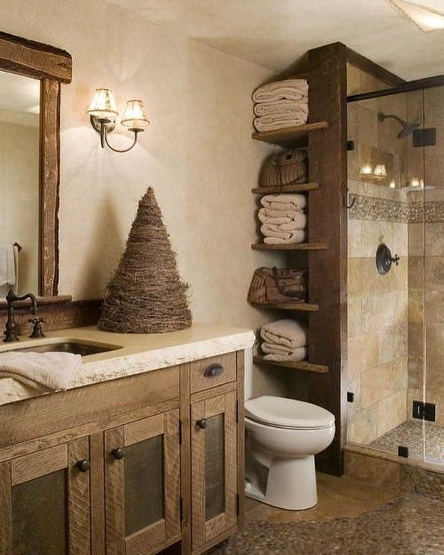 Pallet bathroom rustic decor