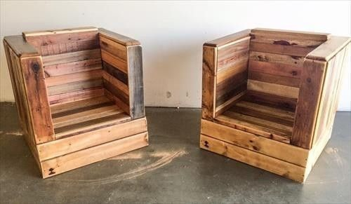 Pallet furniture chair