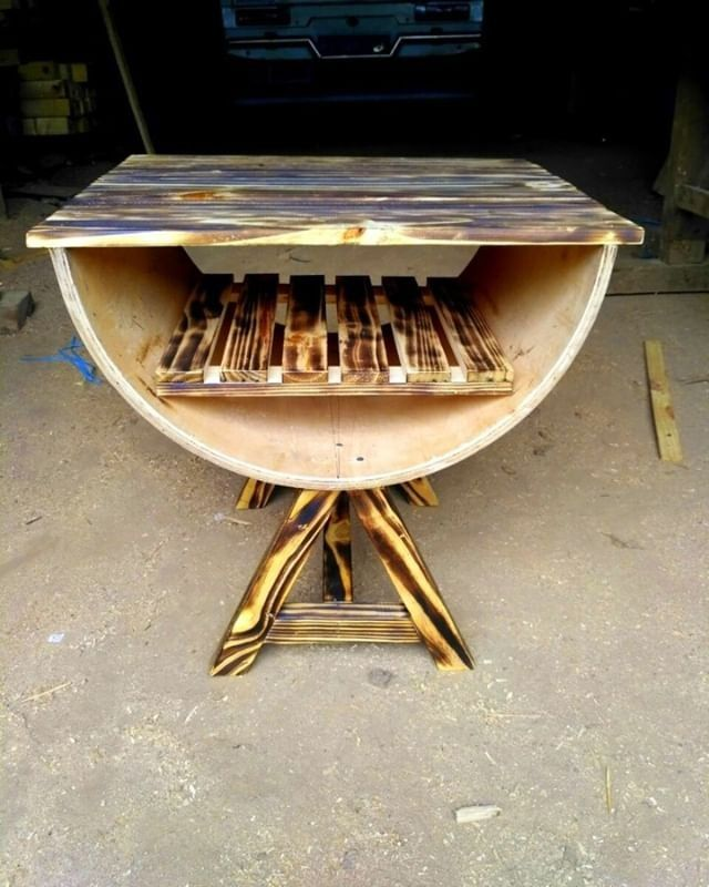 Pallet barrel table
