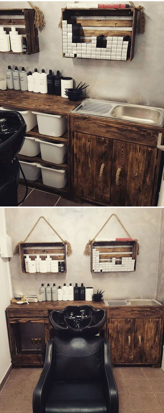 Pallet cabinet with shelf