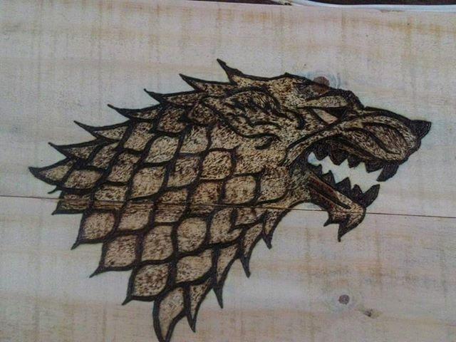 Pallet wolf art- Winter is coming