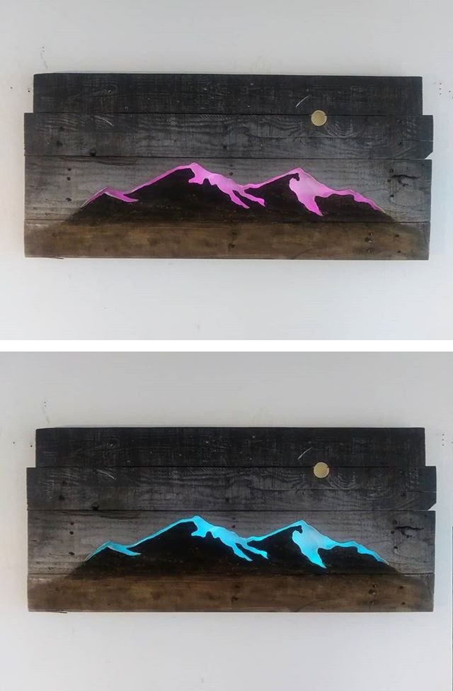 Pallet glowing art
