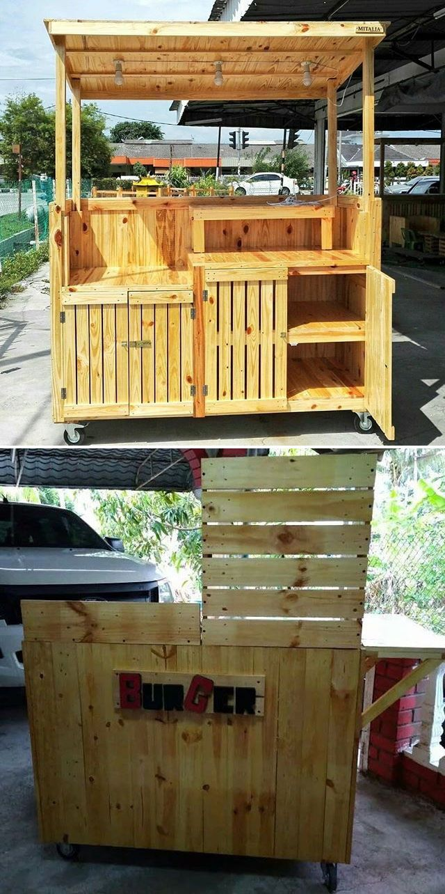 Pallet outdoor stall
