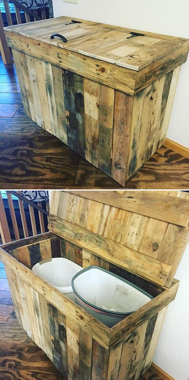 Pallet waste disposal chest