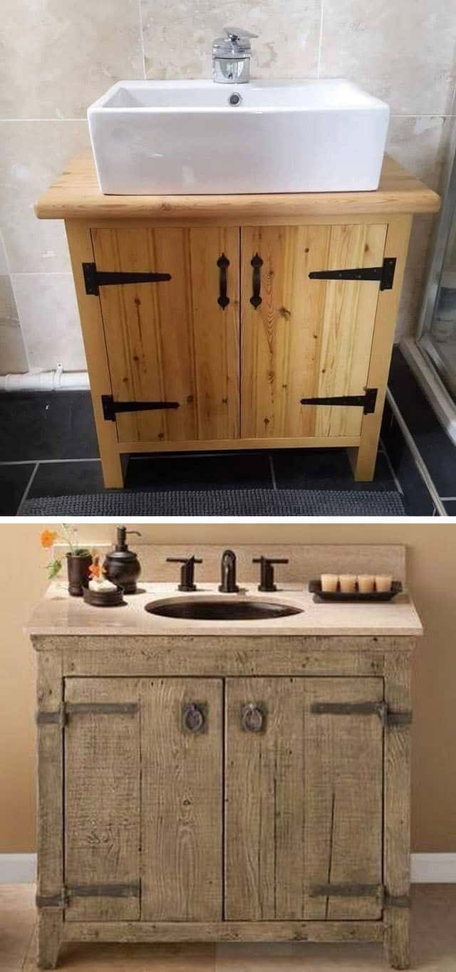 Pallet bathroom cabinets