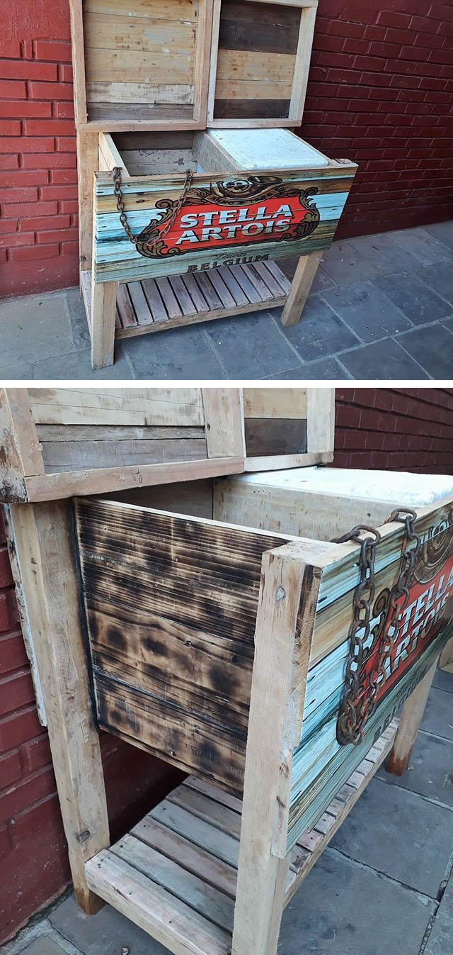 Pallet cooler table