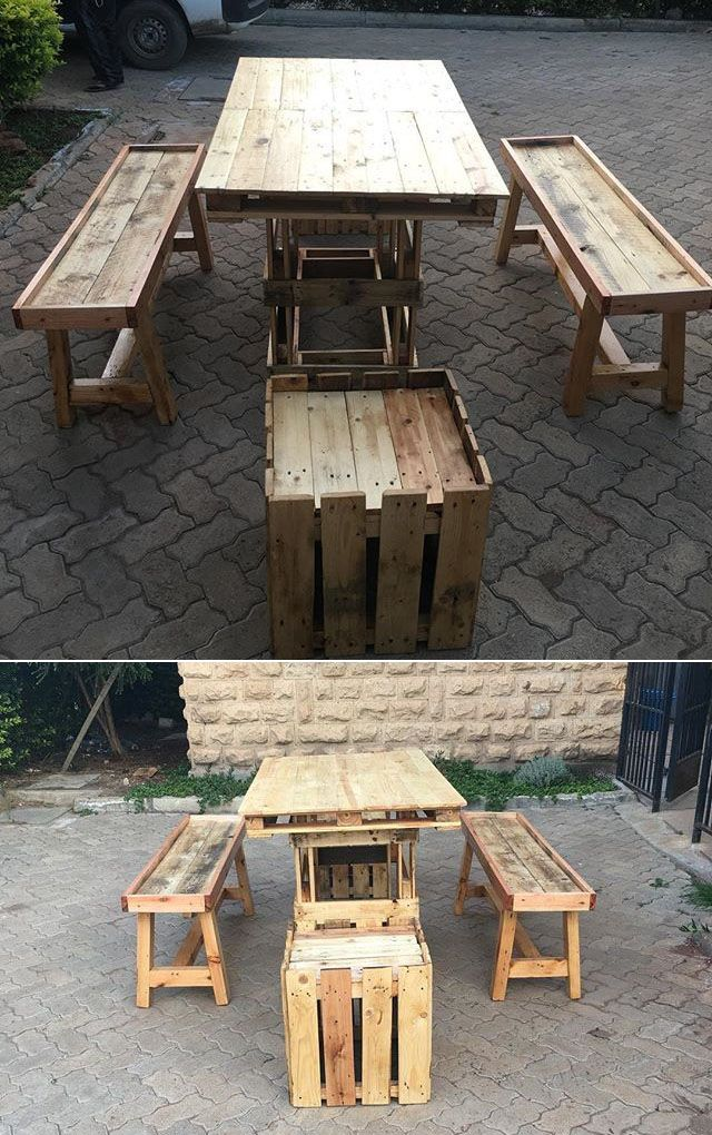 Pallet outdoor furniture ideas.