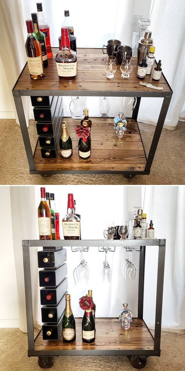 Pallet wine table