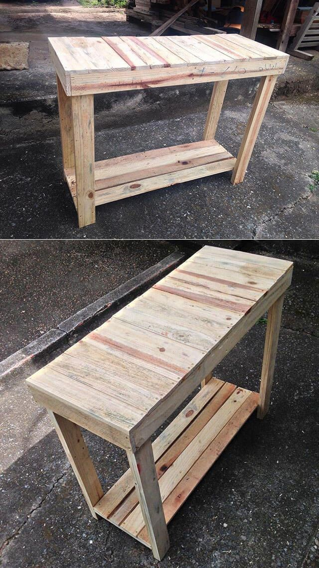 Pallet outdoor bench ideas