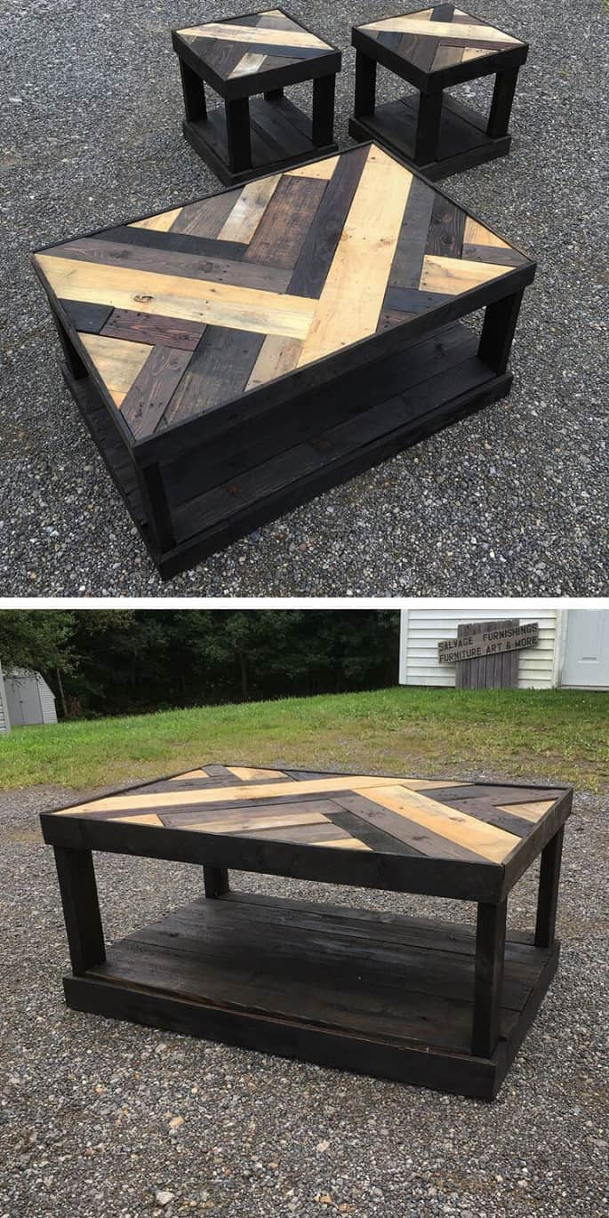colored diy wood pallet furniture projects
