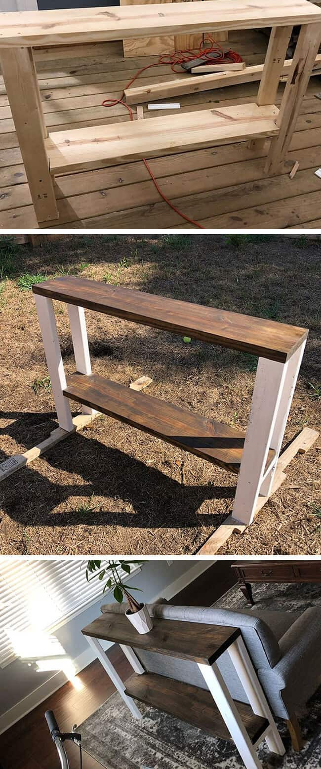 best pallet side table with storage