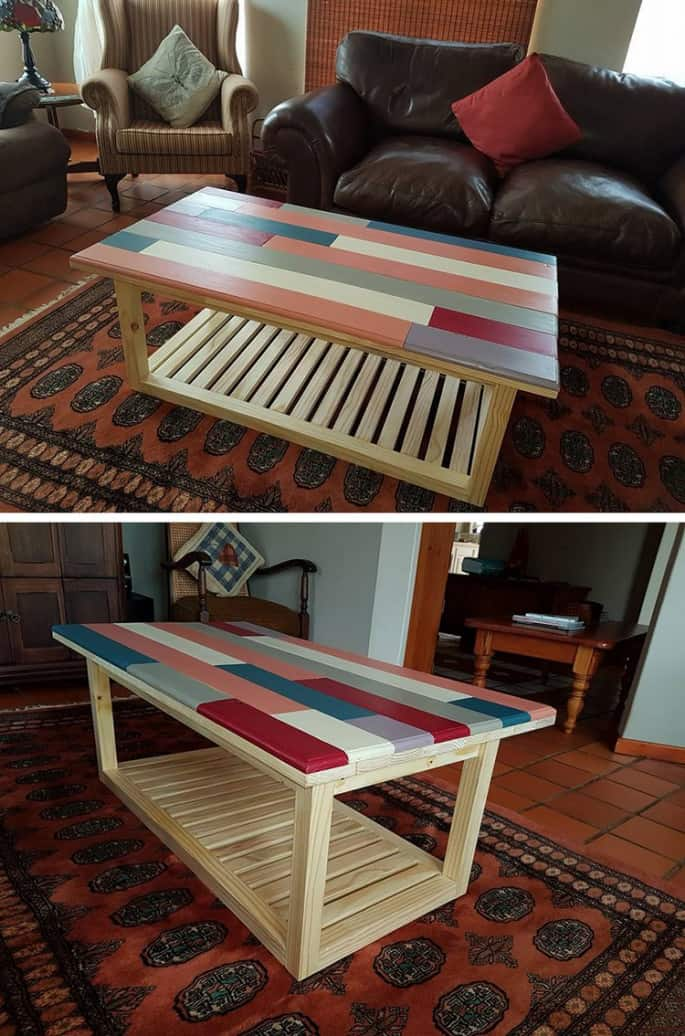 colored pallet coffee table ideas for meetings