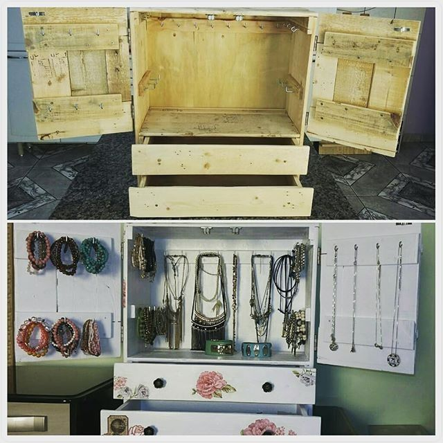 Pallet tool cabinet storage ideas