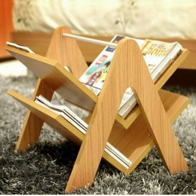 Pallet book rack ideas