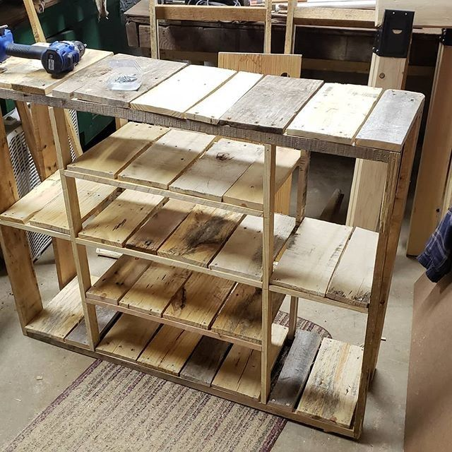 Pallet shelf rack ideas
