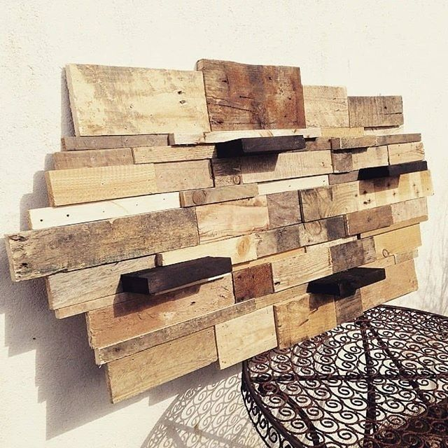 Pallet wall shelf projects