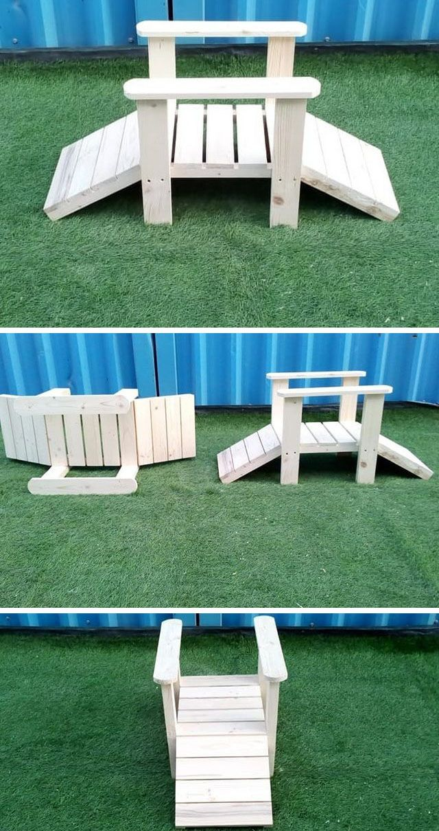Pallet wooden bridge projects