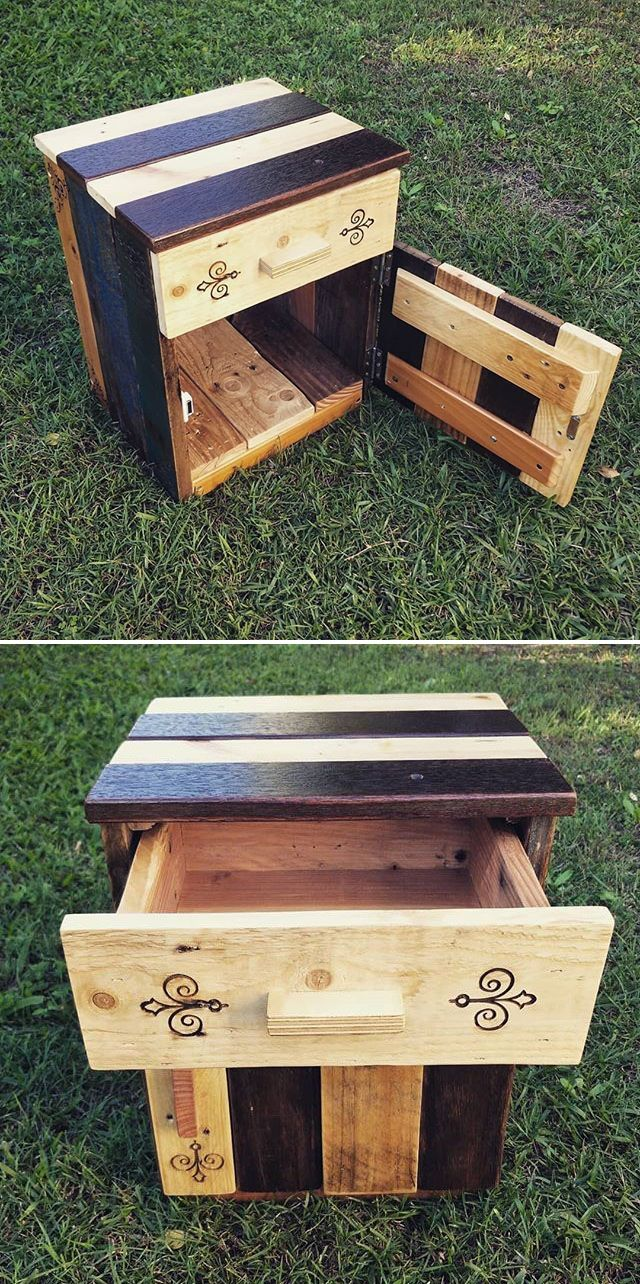 Pallet storage drawers cabinets ideas