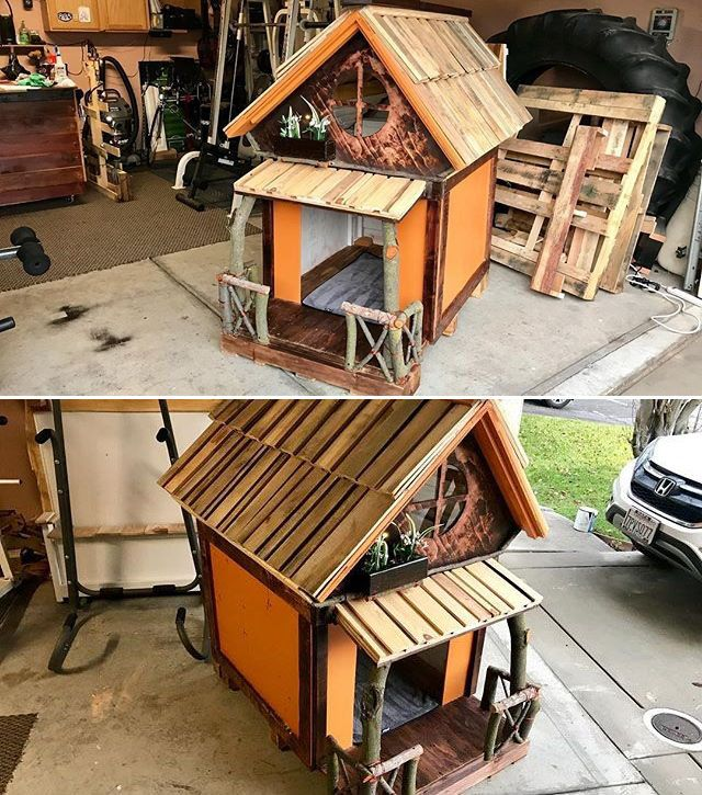 Pallet pet house projects