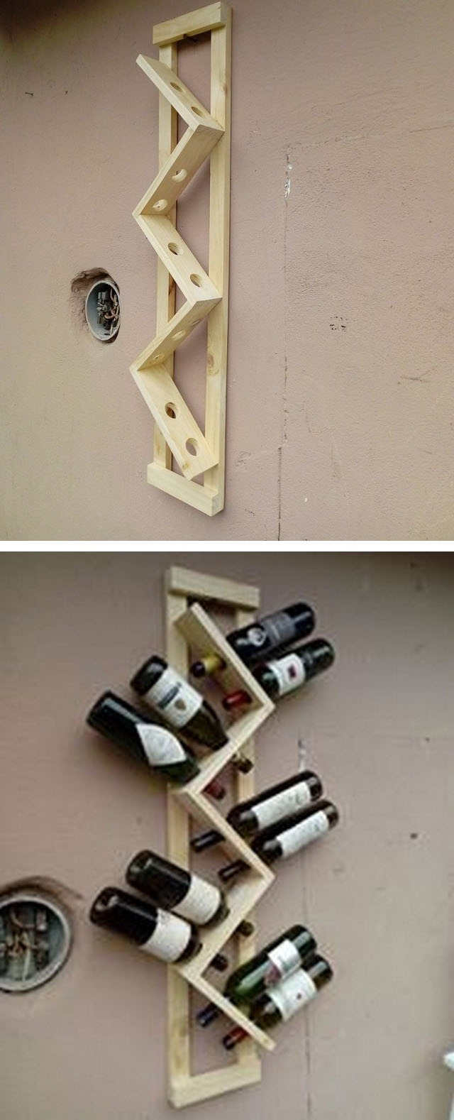 Pallet wine rack ideas