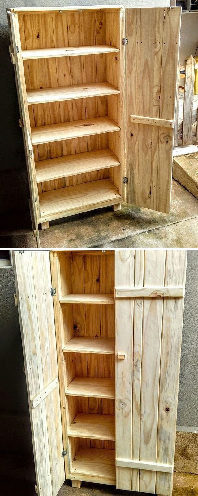 Pallet storage cup board projects