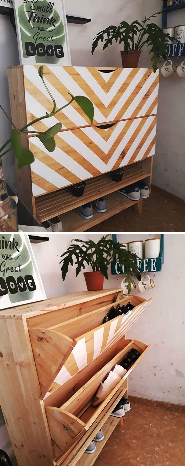 Pallet shoes rack ideas