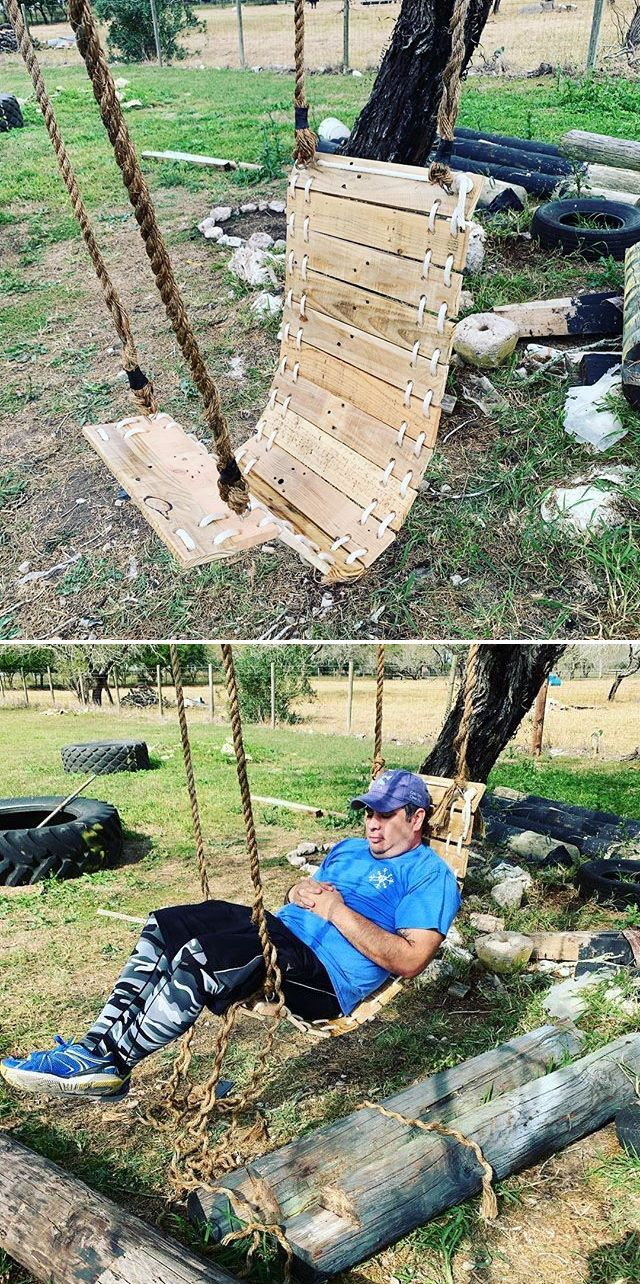 Pallet outdoor swing ideas