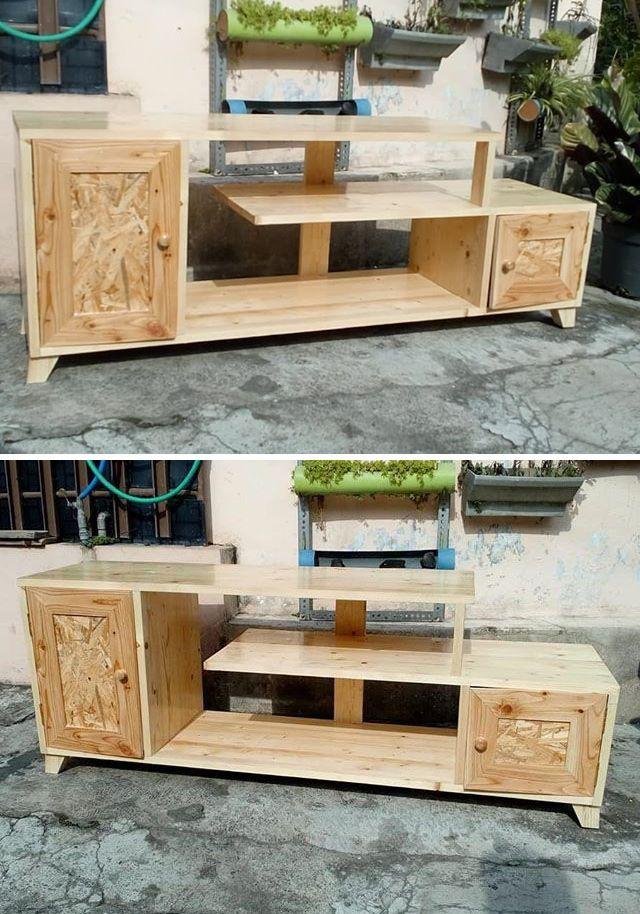 Pallet Entertainment center projects