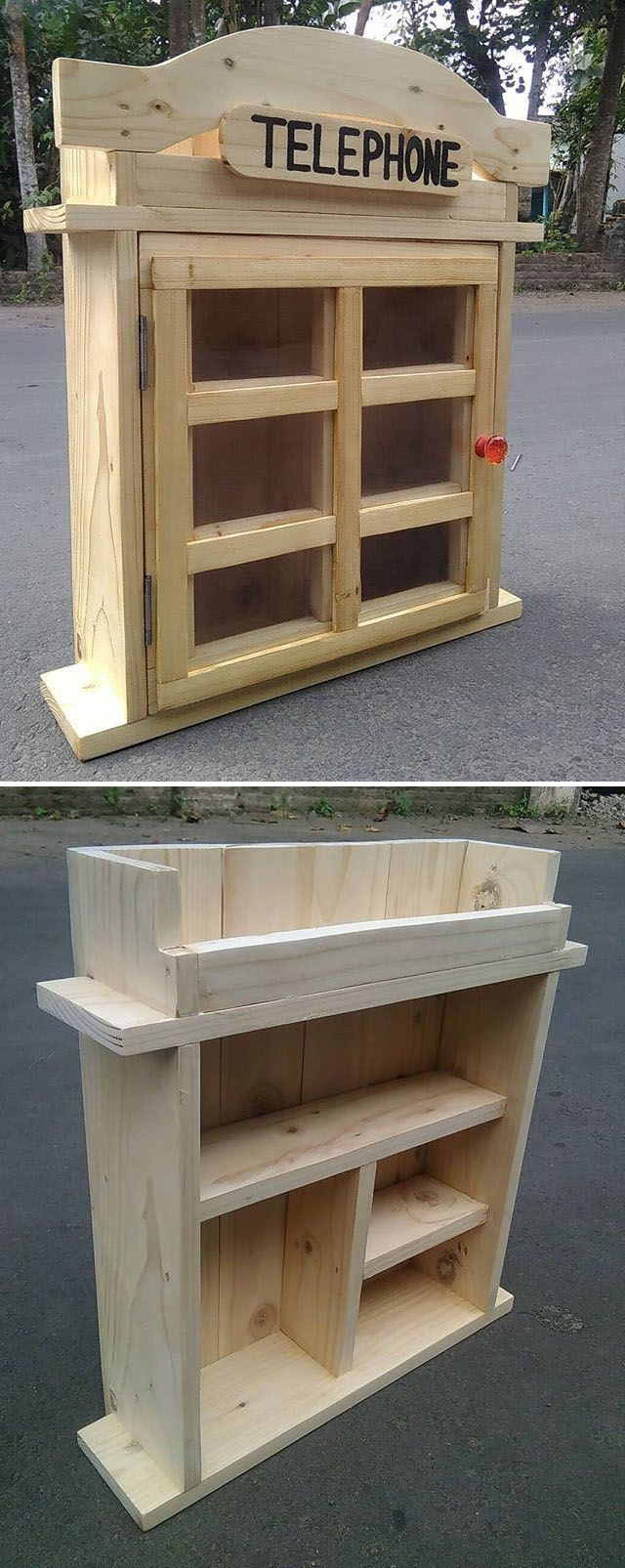 Pallet phone booth ideas