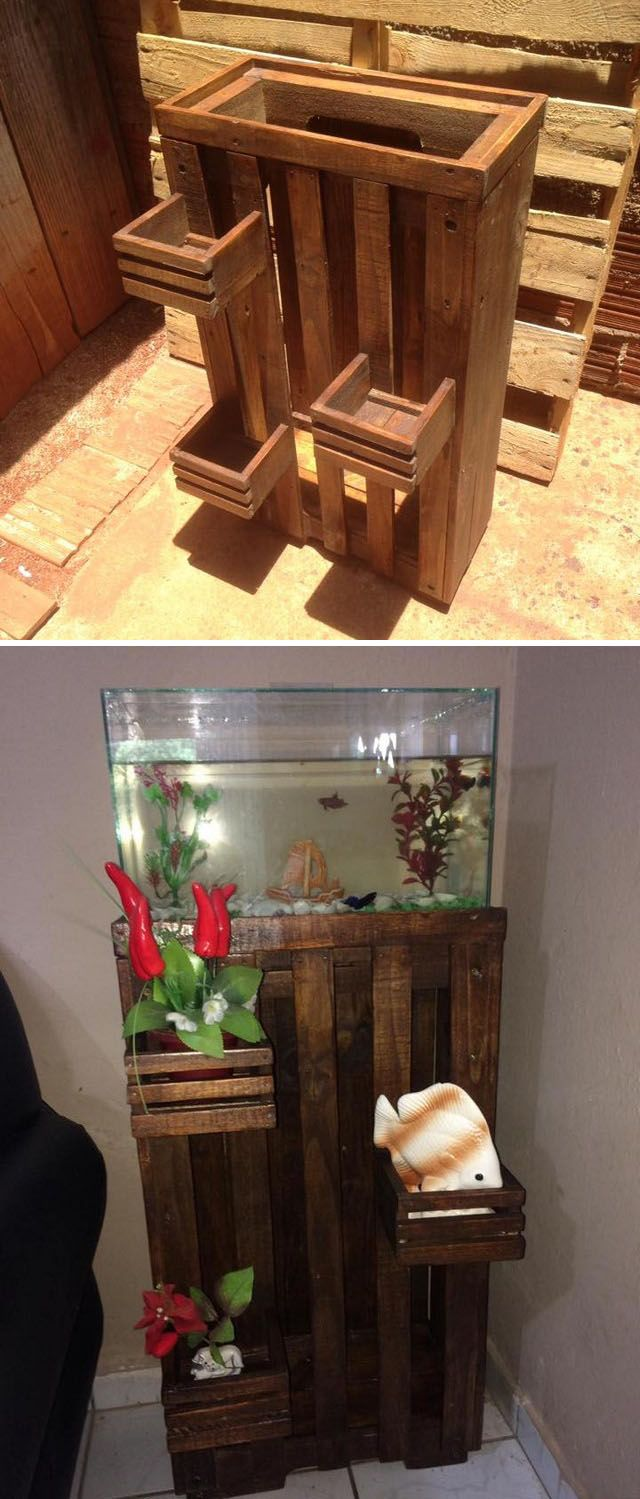 Pallet fish tank stand projects