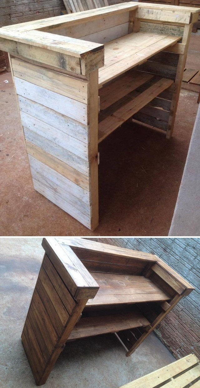 Pallet wine bar ideas