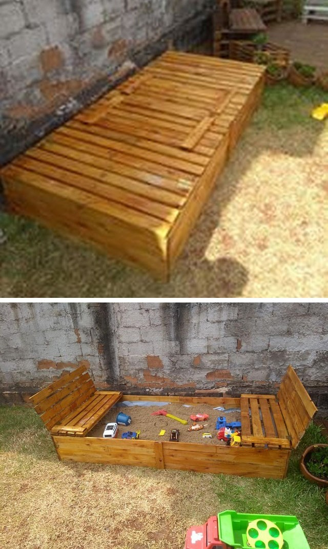 Pallet sand box ideas