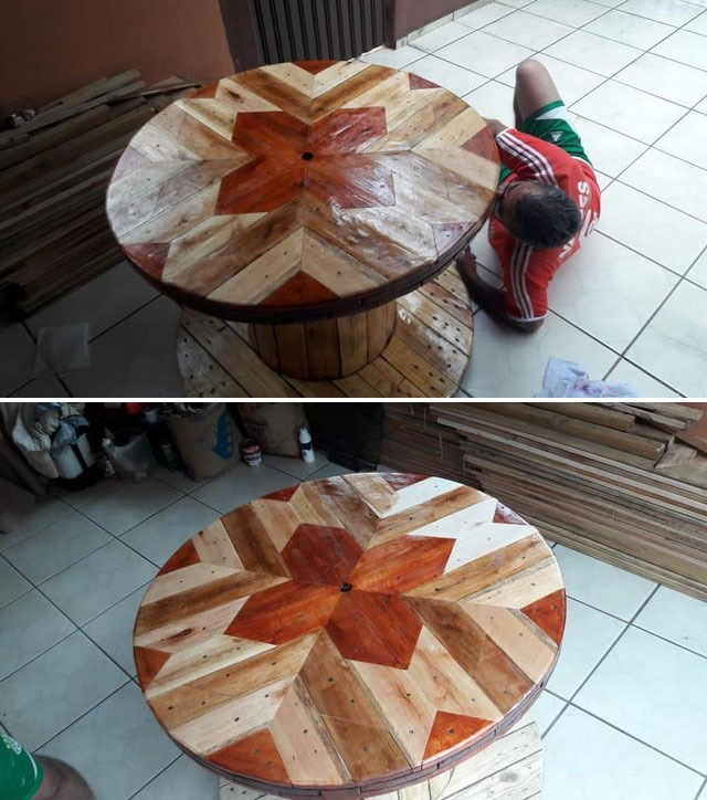 Pallet round table ideas