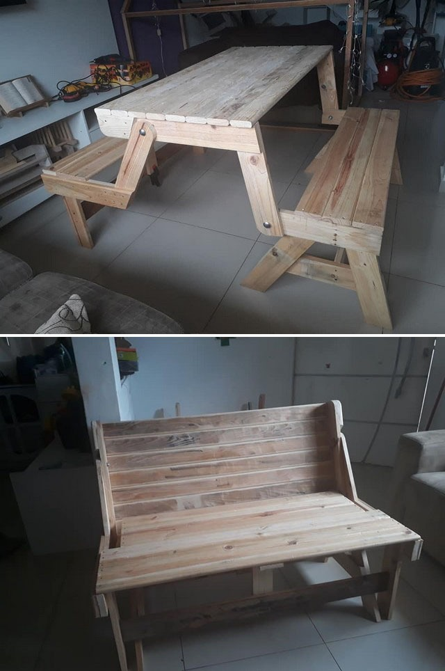Pallet furniture table ideas