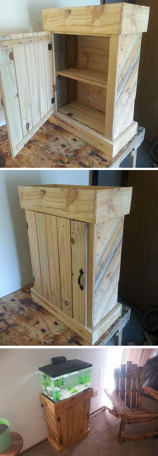 Pallet storage cabinets ideas