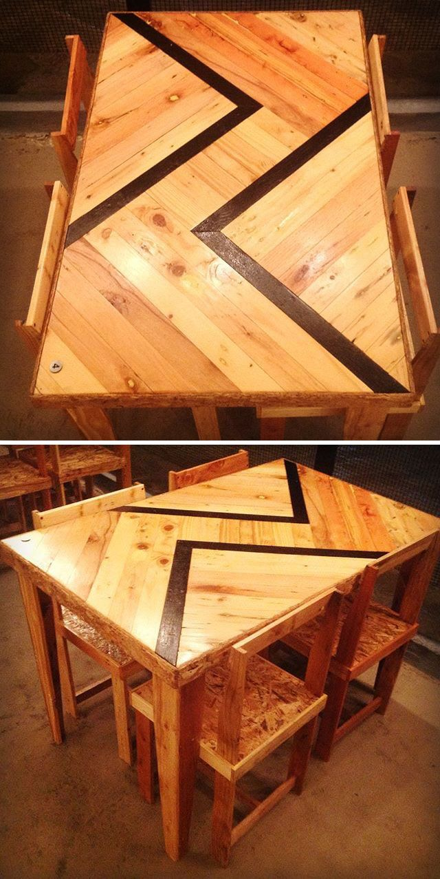 Pallet dining table furniture ideas
