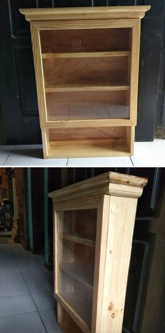 pallet shelf with storage ideas