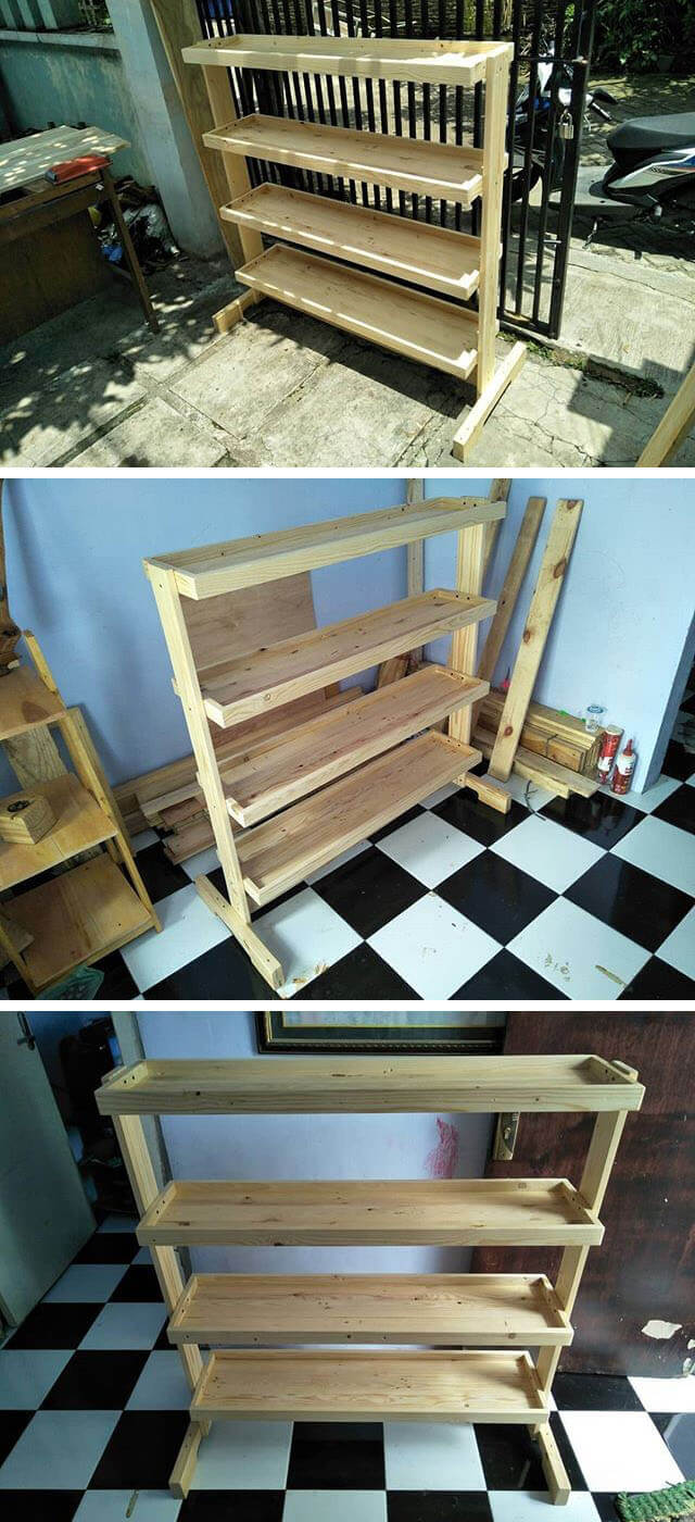pallet wall shelves ideas