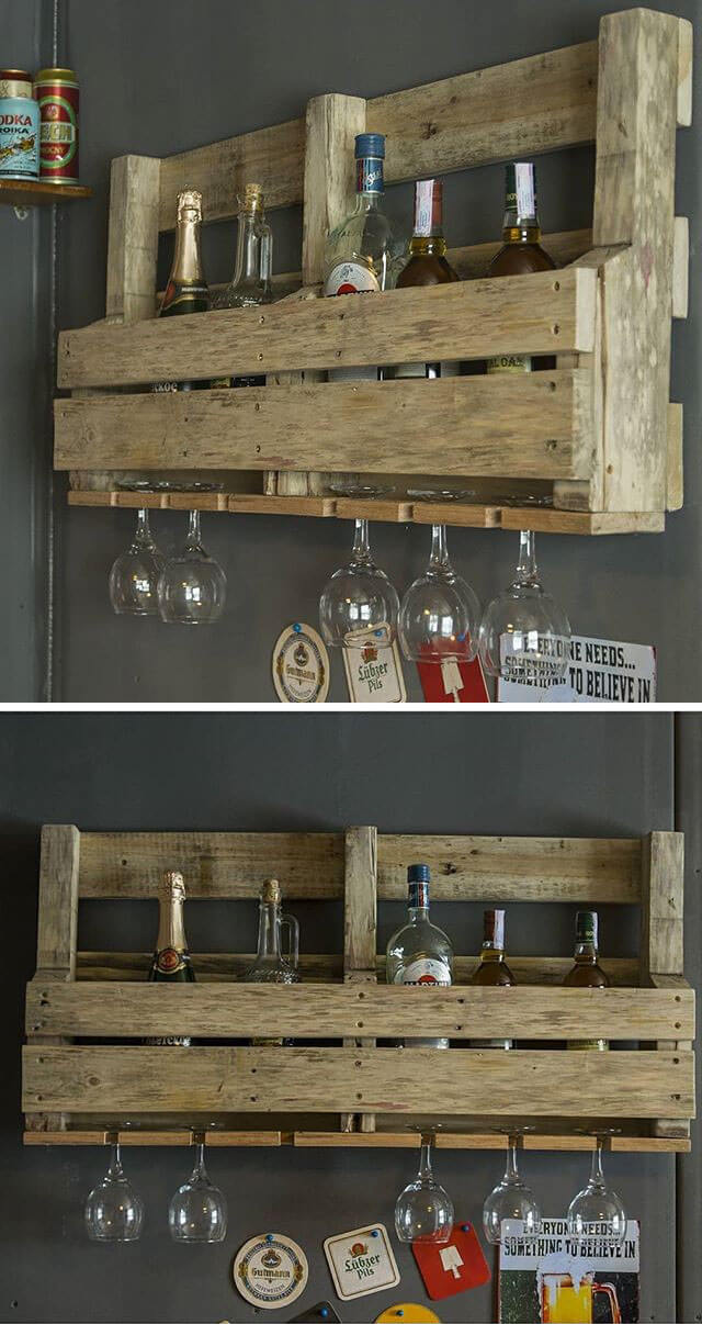 pallet wine shelves ideas