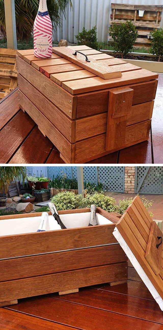 pallet storage box ideas