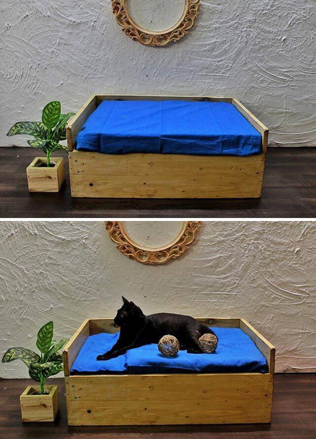 pallet cat bed ideas