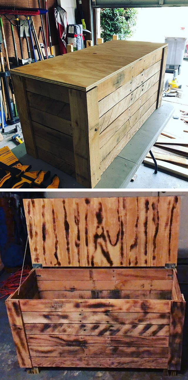 awesome pallet storage boxes