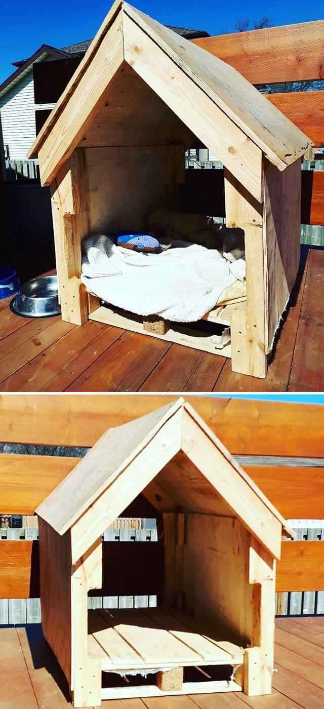 pallet dog house ideas