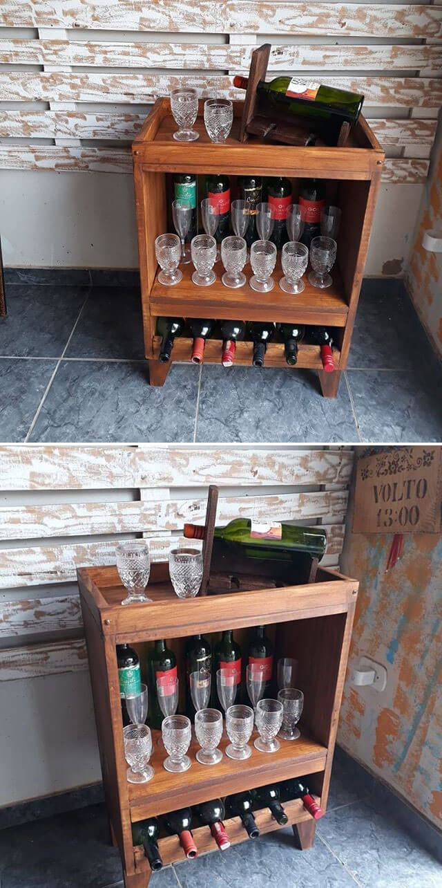 pallet bar rack ideas