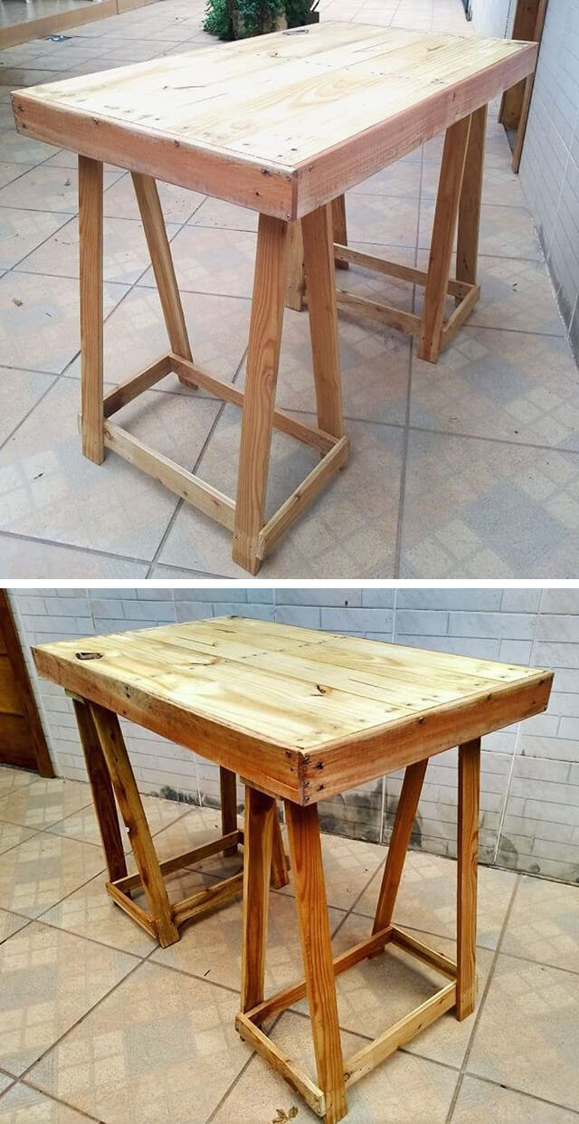 pallet table made from wood
