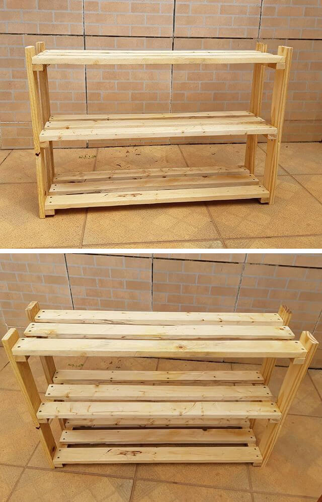 pallet kitchen side shelf ideas