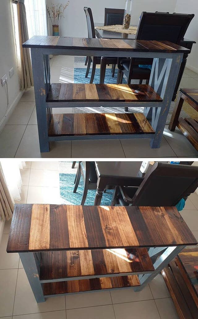 unique pallet side table