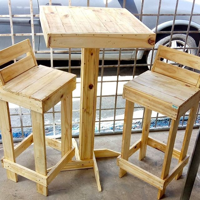 pallet table with chair ideas