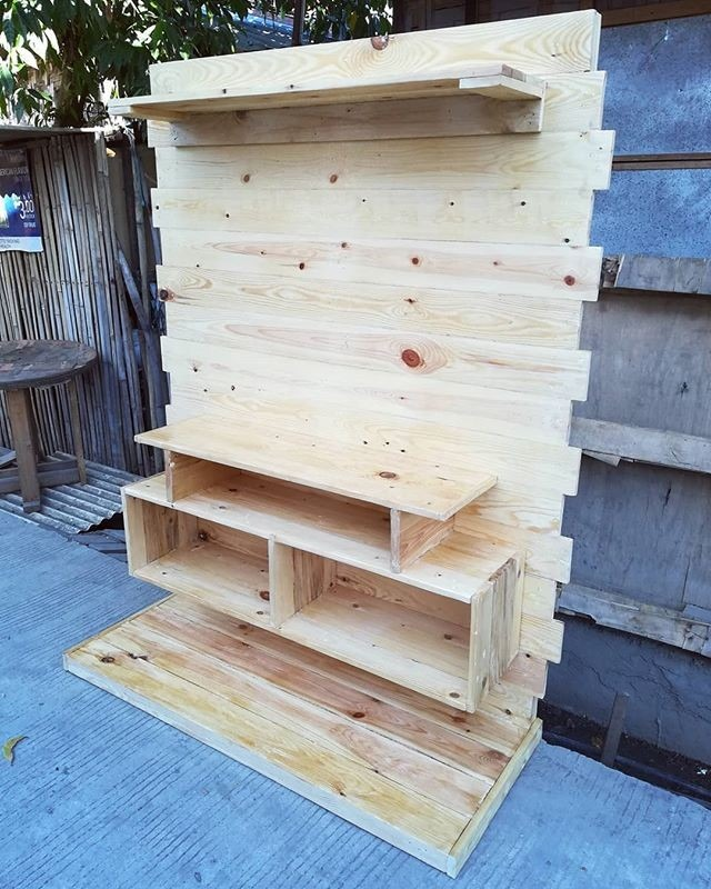 pallet wall shelf ideas