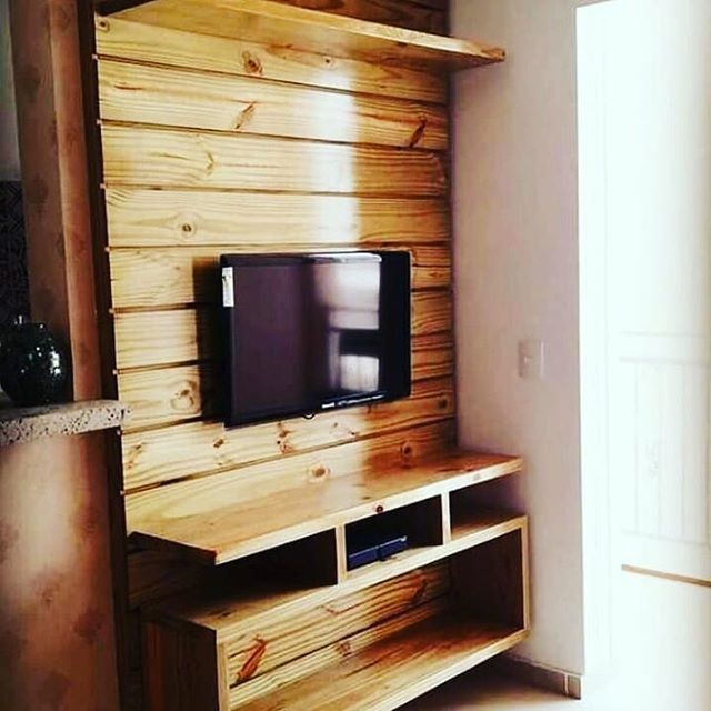 pallet wall tv stand ideas